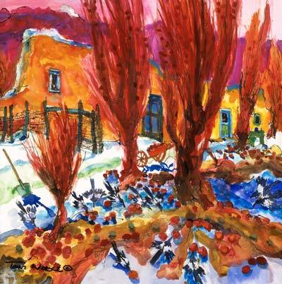 Magpie Fiesta painting