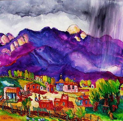 Taos Mountain Rain painting