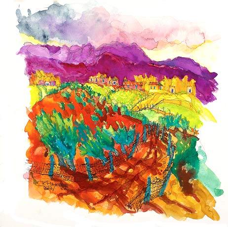 El Camino A Los Llanos painting