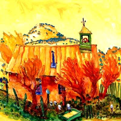 Orange Mesa painting