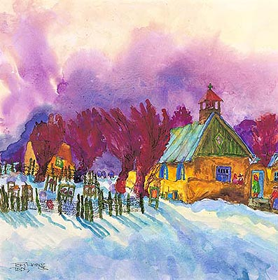 Taos Winter painting
